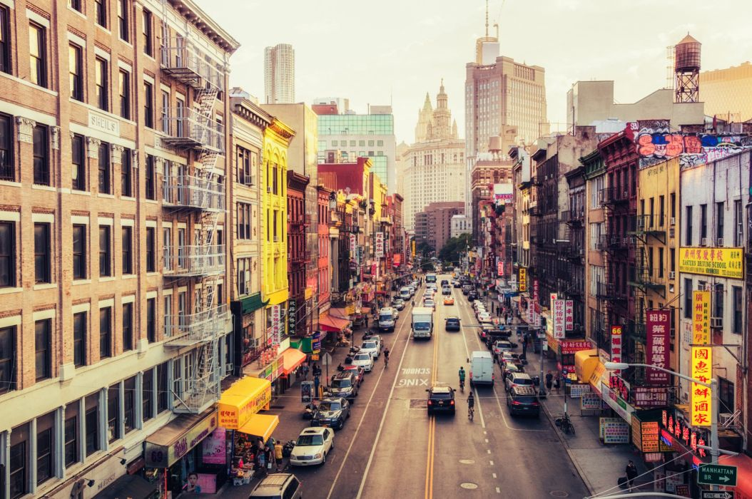 New York City Streets Chinatown East Broadway wallpaper