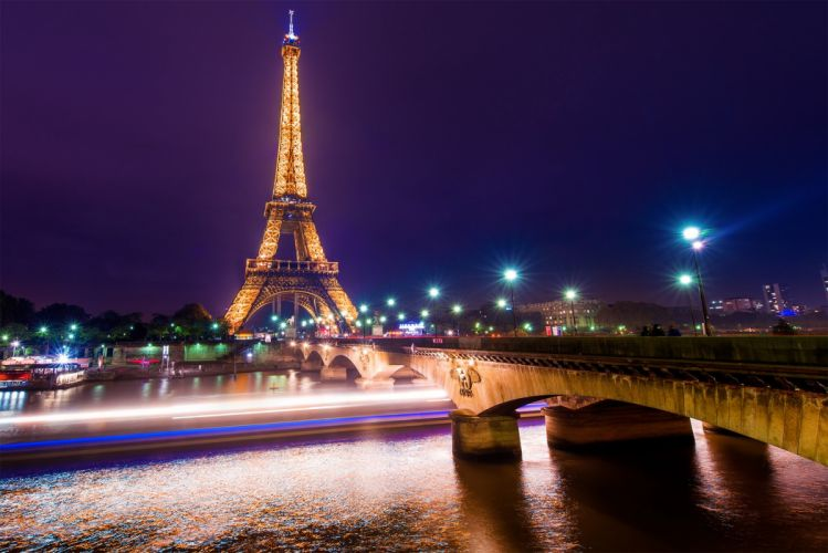 Paris Eiffel tower france night lights wallpaper