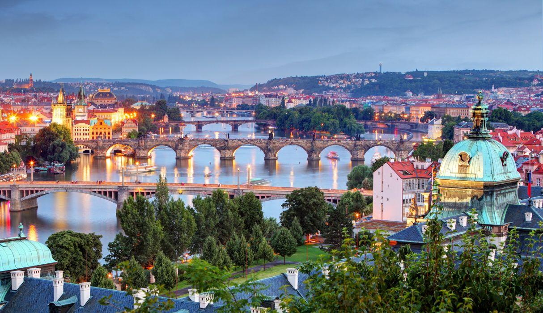 Prague Czech Republic Houses Rivers Bridges Cities wallpaper
