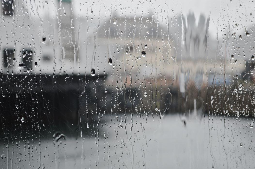 Rain Glass Drops Cities wallpaper