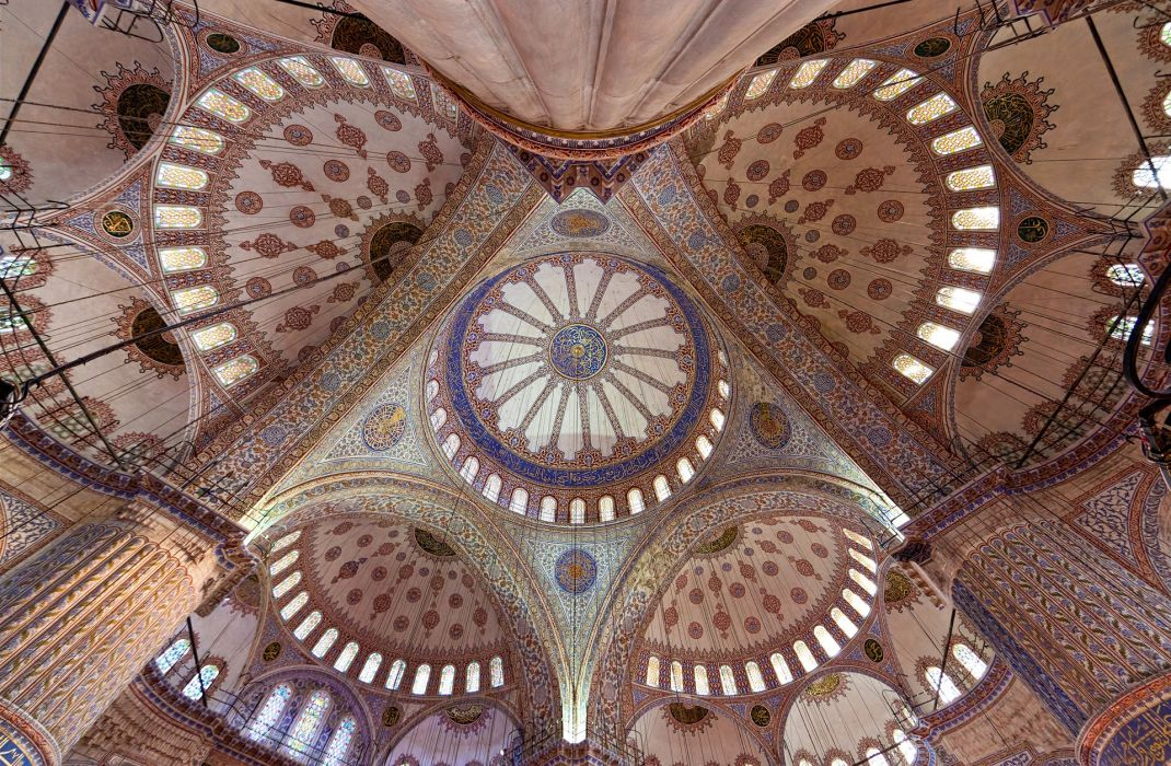 Religion Temples Ceiling Istanbul Cities wallpaper