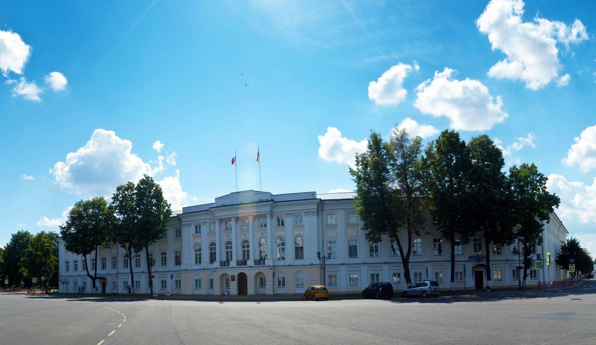 Russia Houses Sky Street Yaroslavl Cities wallpaper