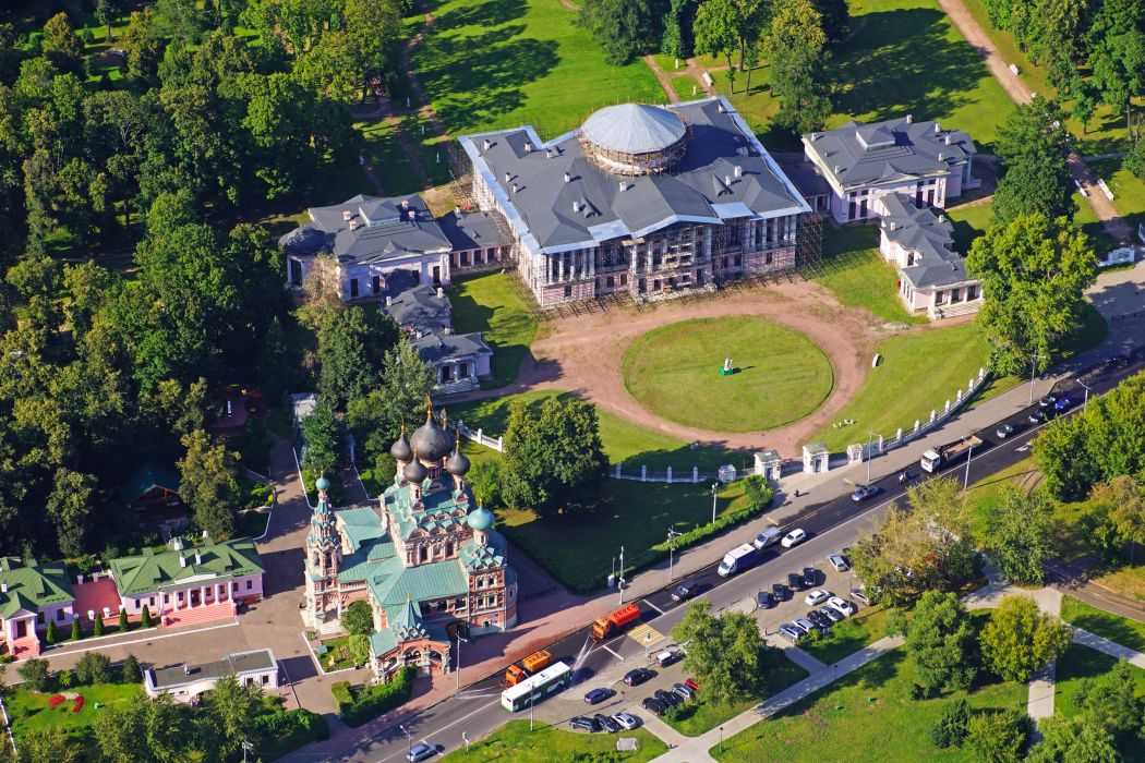 Russia Moscow Houses Temples Roads From above Ostankino Cities wallpaper