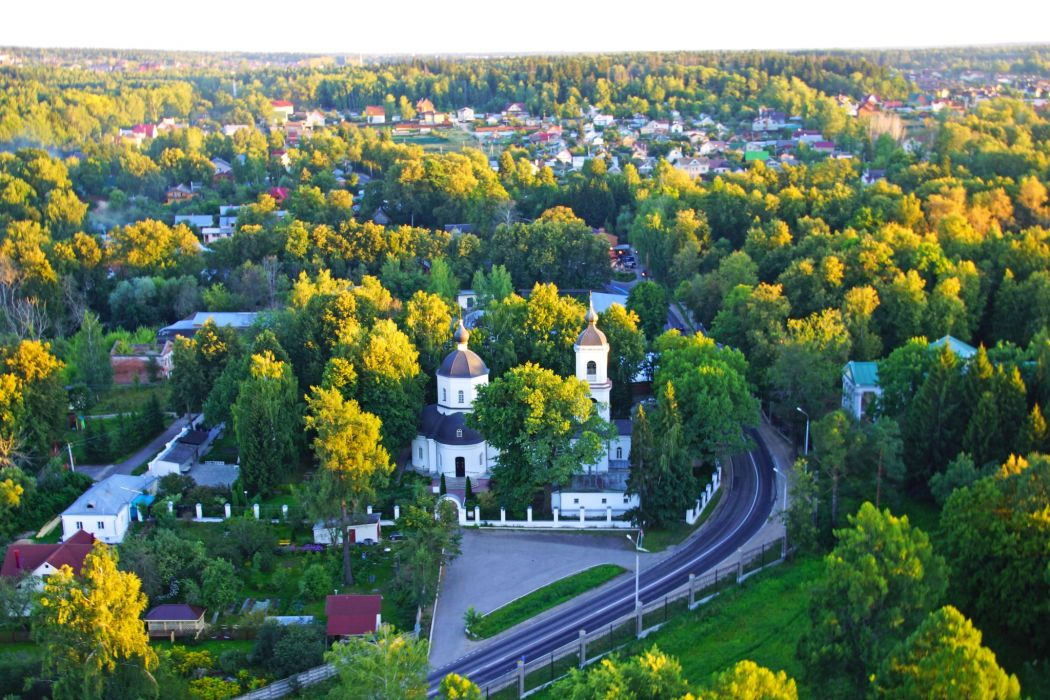 Russia Moscow Temples Houses Roads From above Pokrov church Istra Cities wallpaper