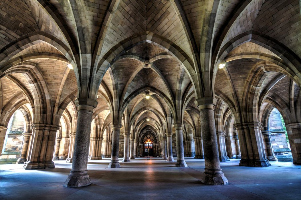 Scotland Ceiling Bute Hall Cities wallpaper