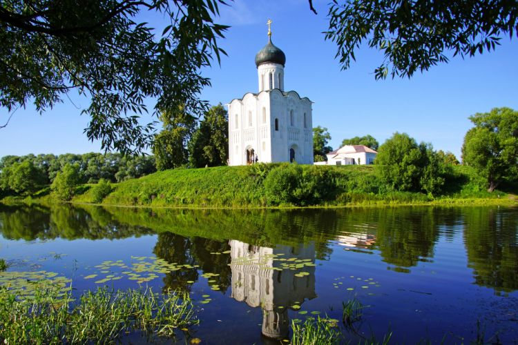 Russia Temples Rivers Suzdal Cities Nature wallpaper