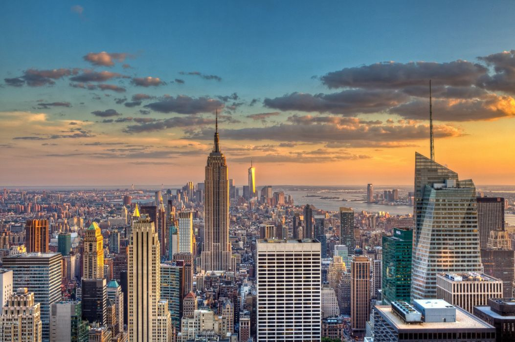 Sky Houses Skyscrapers USA Megapolis New York City Cities wallpaper
