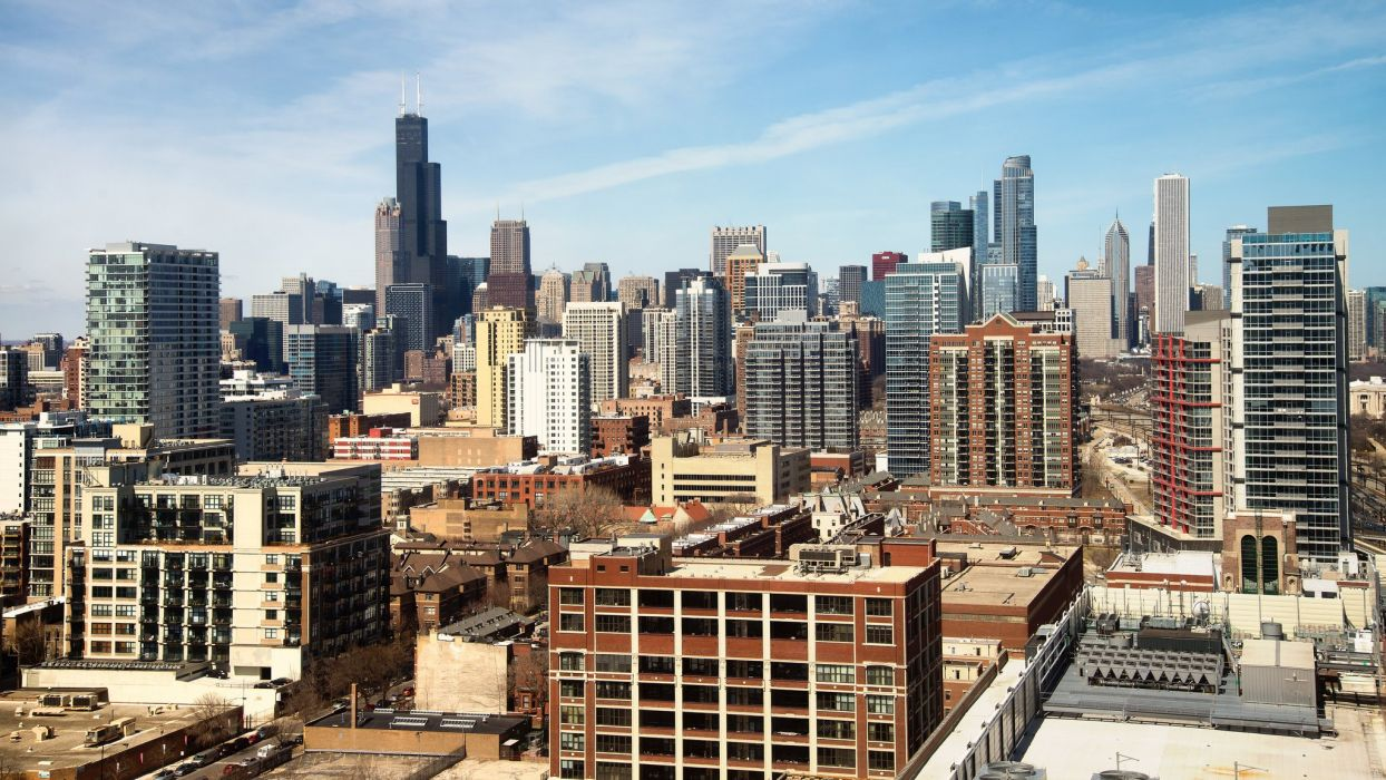 Skyscrapers USA Houses Chicago city Cities wallpaper