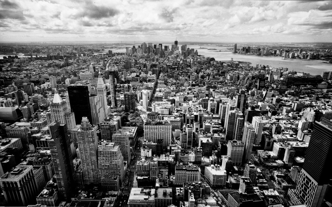Skyscrapers Panorama Nyc Black White Skyscrapers City Pictures Usa New York wallpaper