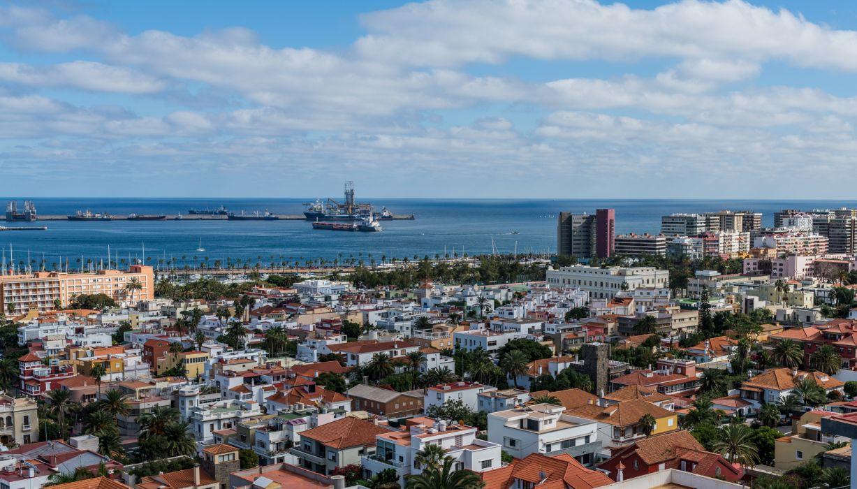 Spain Houses Marinas Ships Las Palmas Gran Canaria Cities wallpaper
