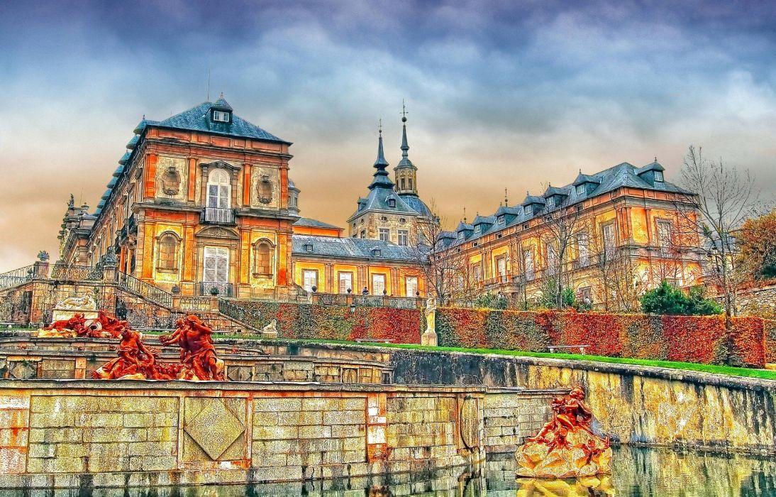 Spain Houses Segovia La Granja Cities wallpaper
