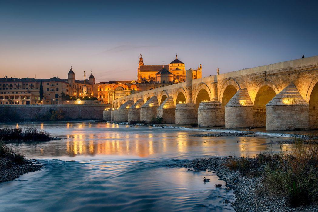 Spain Rivers Bridges Cities wallpaper