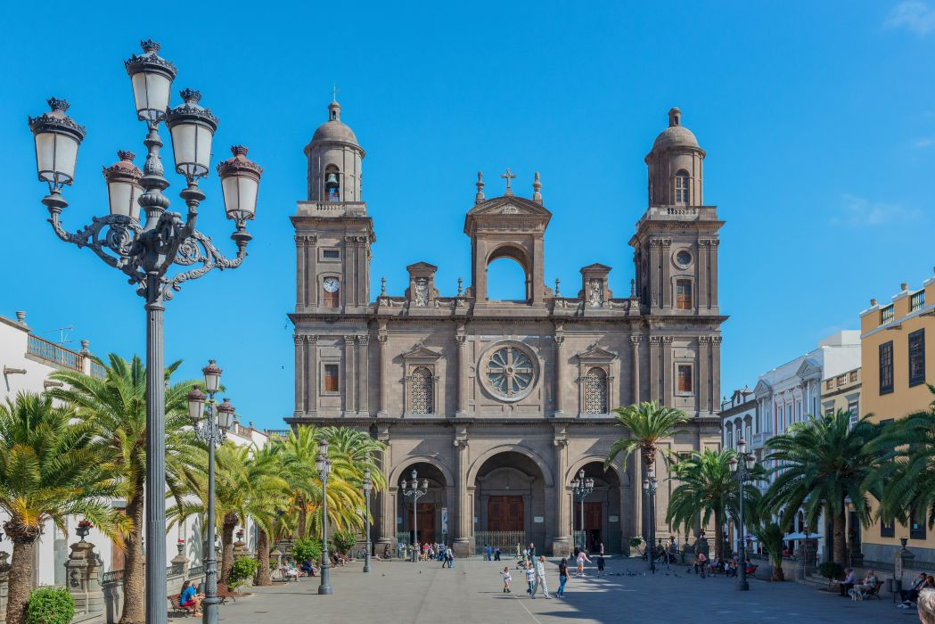Spain Temples Houses Palma Street lights San Telmo Tenerife Cities wallpaper