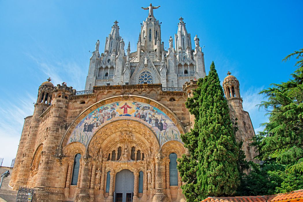 Temples Spain Barcelona Cities wallpaper