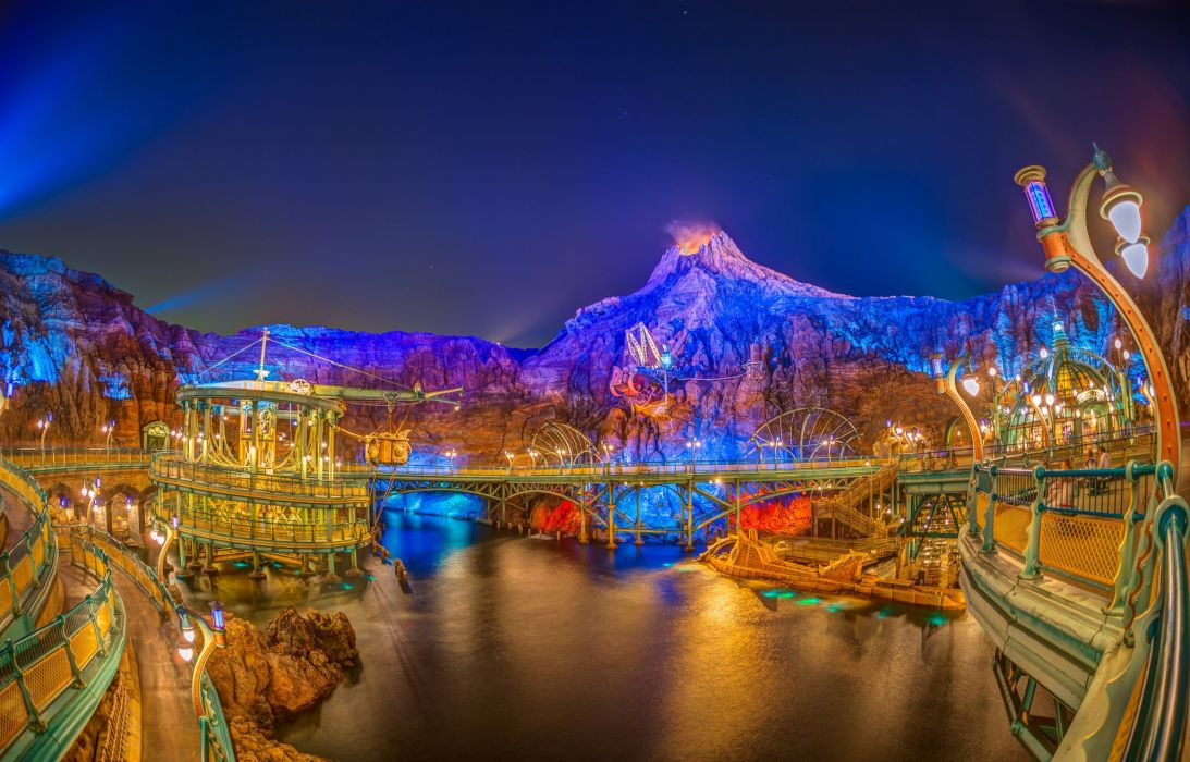 Tokyo Japan Parks Mountains Night Cities wallpaper