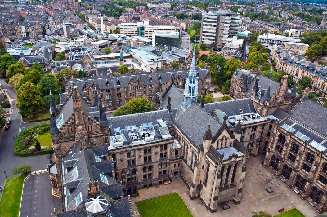 United Kingdom Houses From above Glasgow University Cities wallpaper