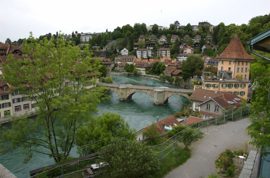 Switzerland Bridges Houses Bern Cities wallpaper