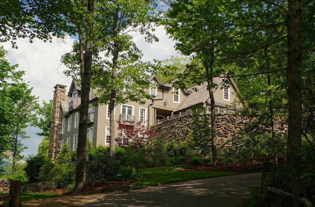 USA Houses Trees Toxaway Carolina Cities wallpaper