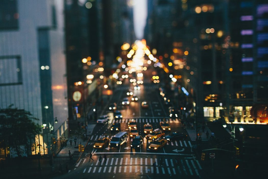 USA Roads New York City Night Street Cities wallpaper