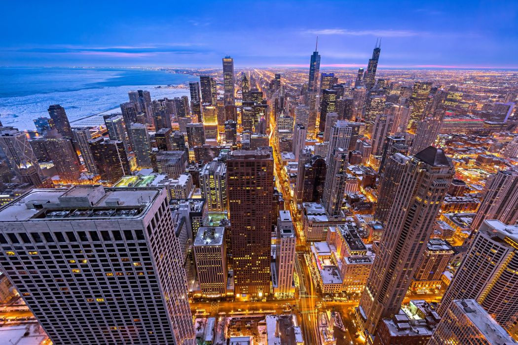 USA Skyscrapers Houses Chicago city Illinois Cities wallpaper
