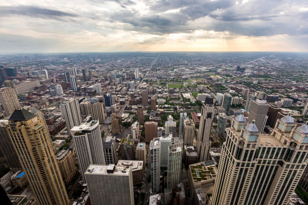 USA Skyscrapers Houses Chicago city Megapolis Cities wallpaper