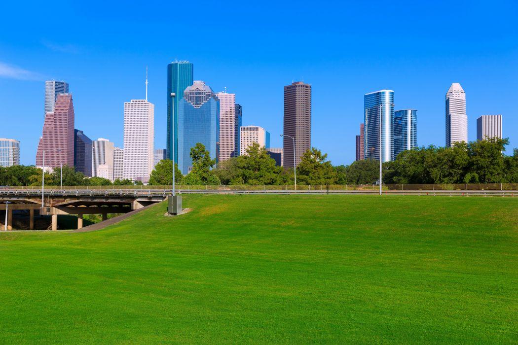 USA Houses Bridges Texas Lawn Houston Cities wallpaper