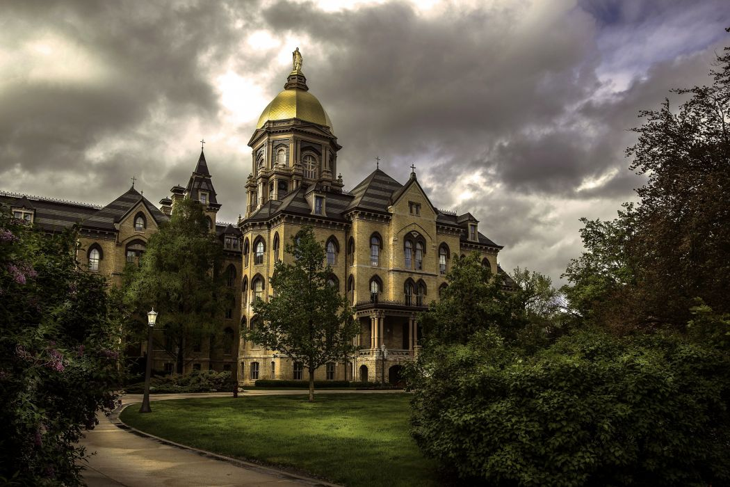 USA Houses Lawn Shrubs University of Notre Dame South Bend Indiana Cities wallpaper