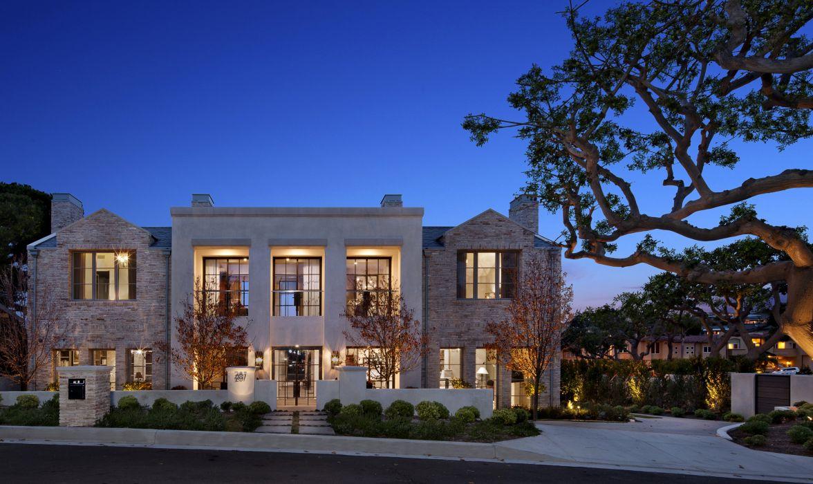 USA Houses Mansion Night Newport Beach Cities wallpaper