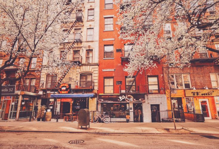 USA Houses New York City Street Cities wallpaper