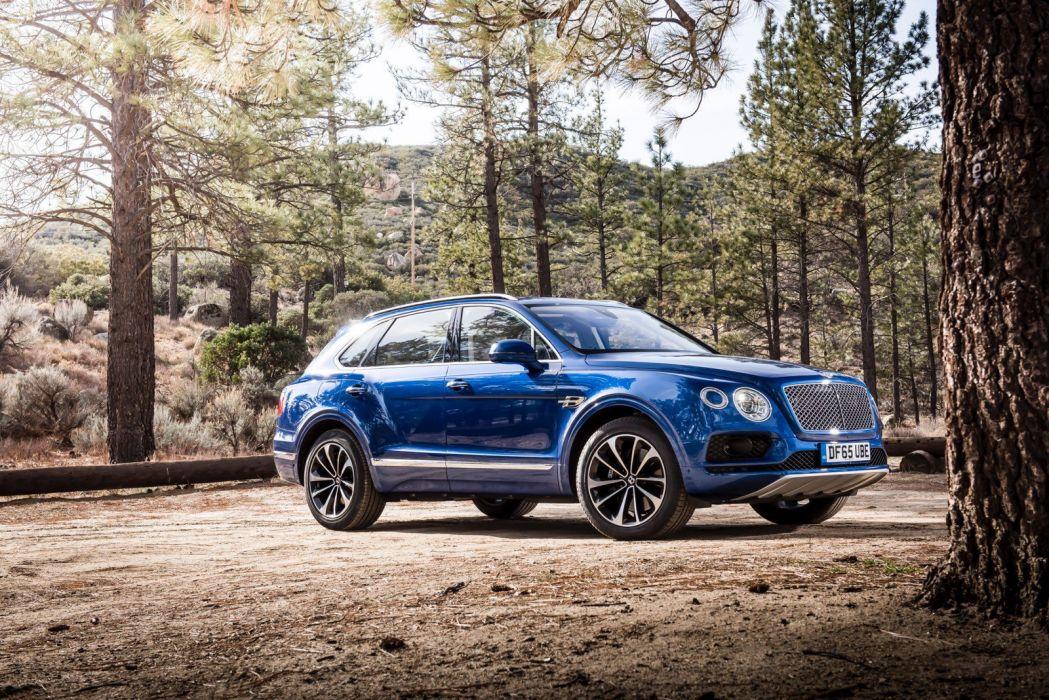 2016 Bentley Bentayga cars suv blue wallpaper