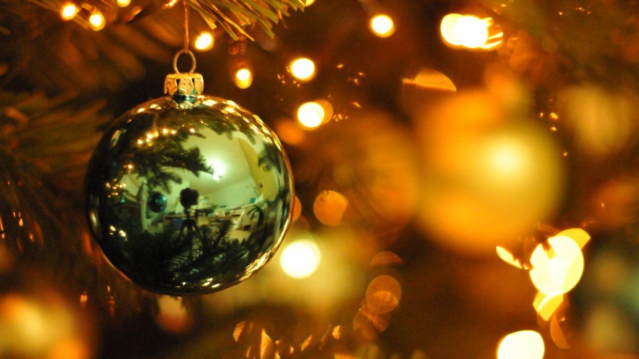 adornos navidad bola luces wallpaper