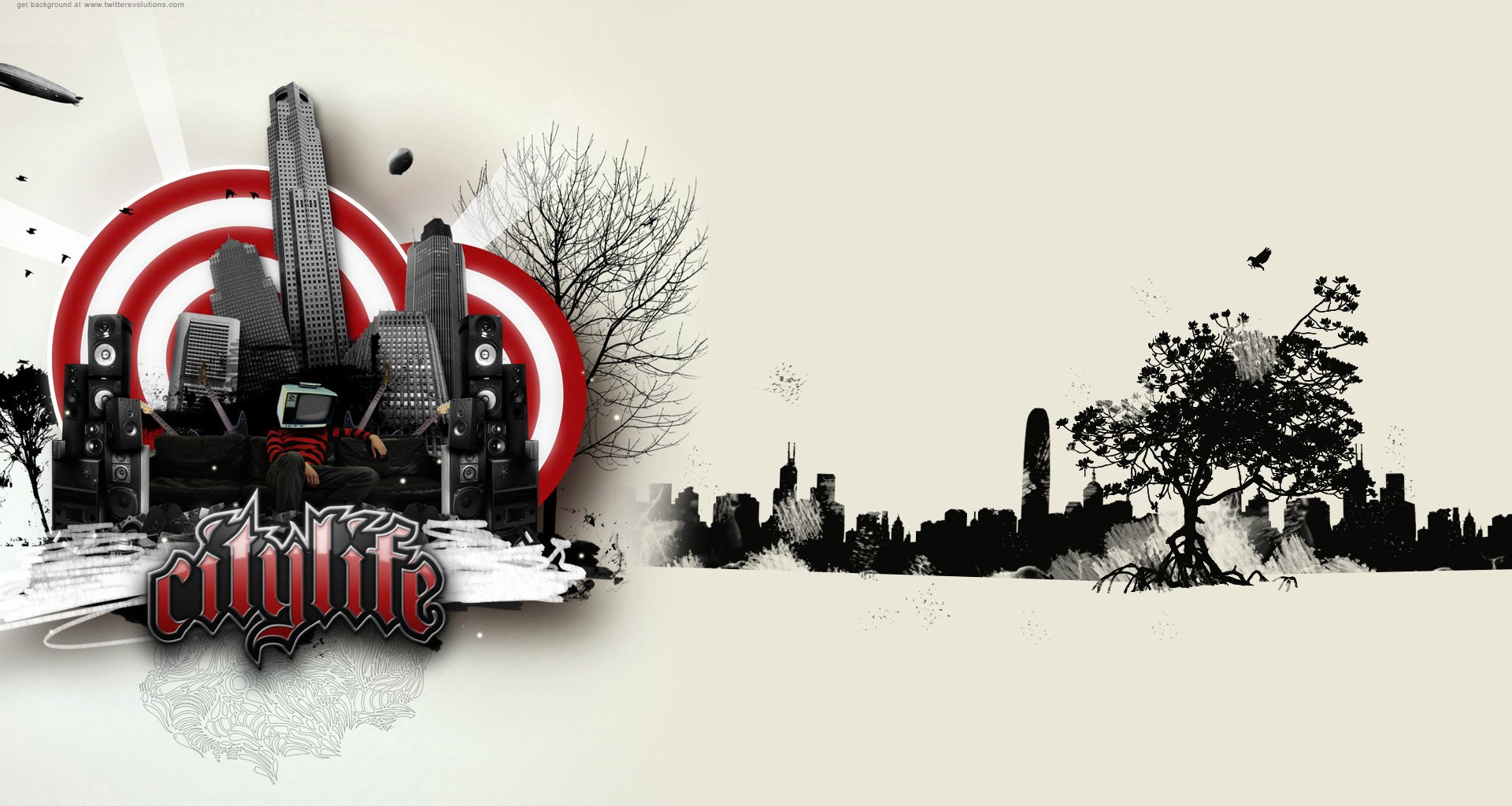 Hip Hop City Background