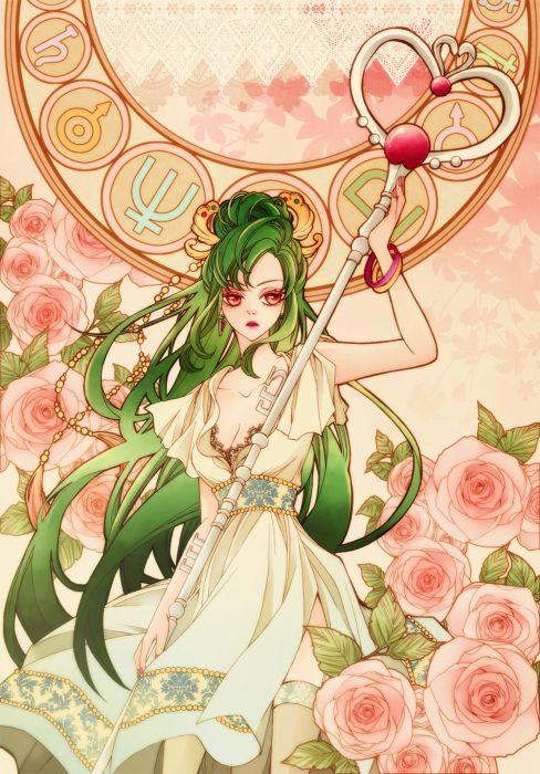 anime series sailor moon dress girl beautiful long hair flower character wallpaper
