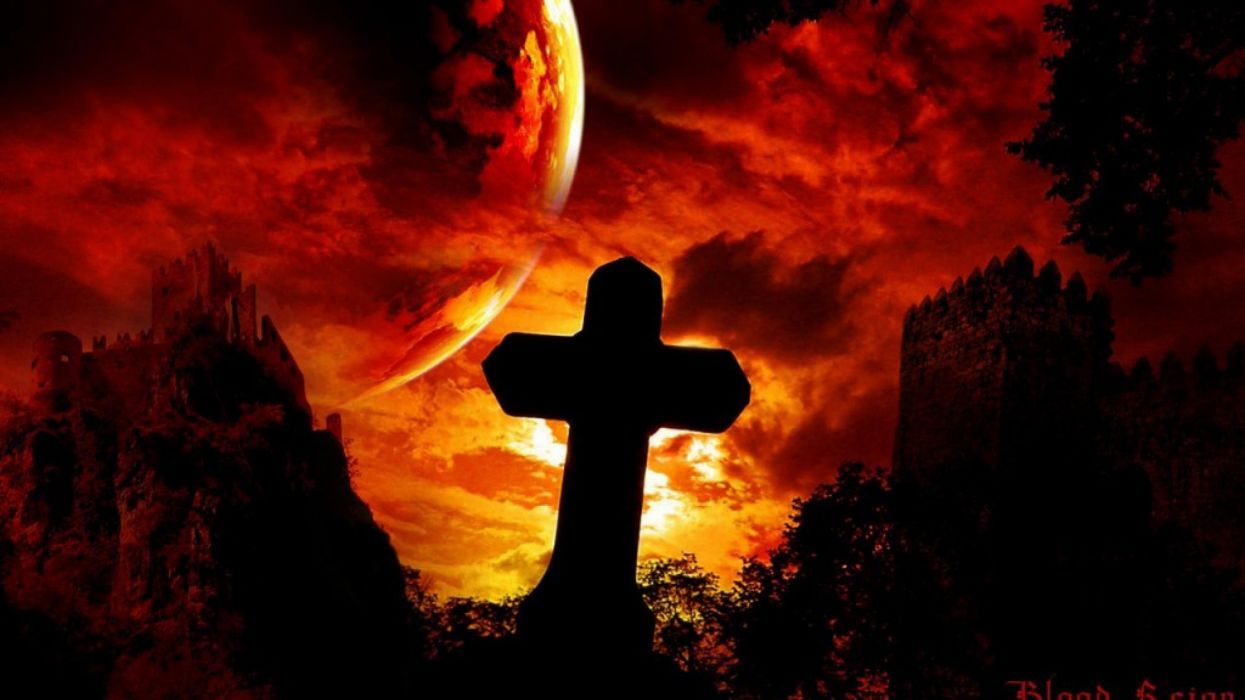 halloween cementerio tumba luna llena wallpaper