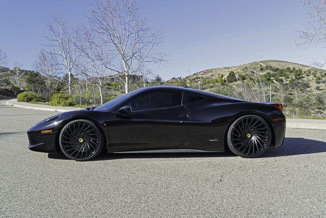 FERRARI 458 ITALIA Forgiato wheels cars black wallpaper