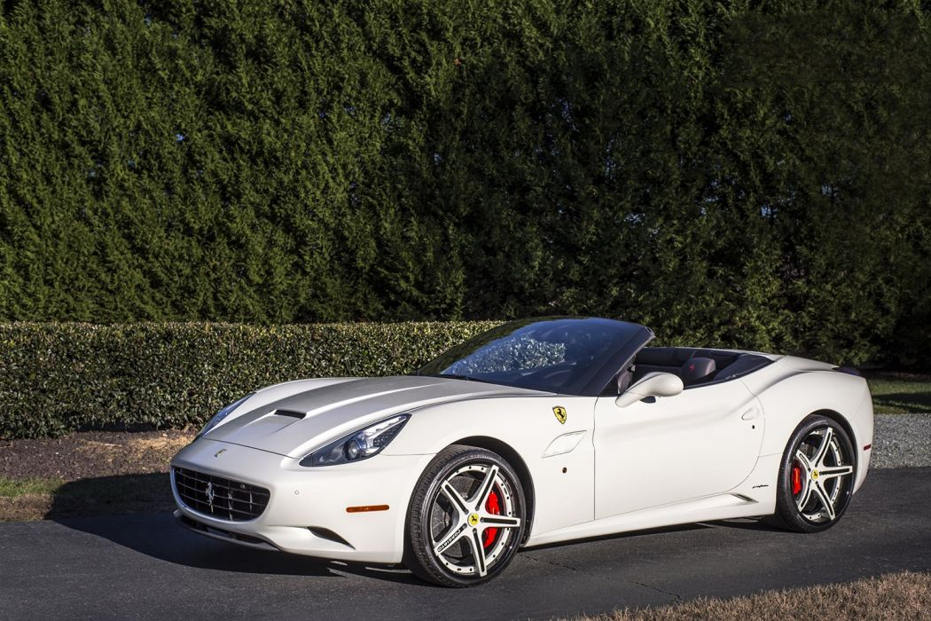 FERRARI CALIFORNIA white Forgiato wheels cars wallpaper