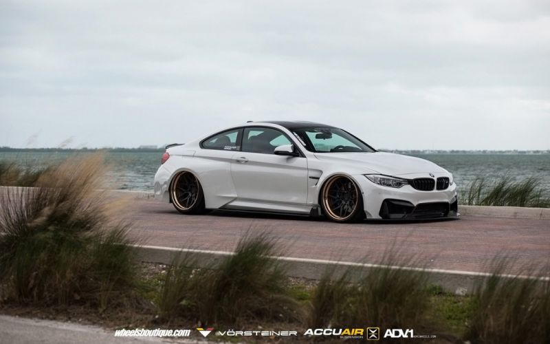 2016 Vorsteiner BMW M4 GTRS4 Widebody cars coupe white modified wallpaper
