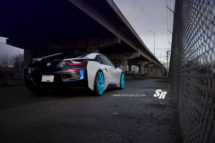 PUR wheels BMW I8 cars electric white wallpaper