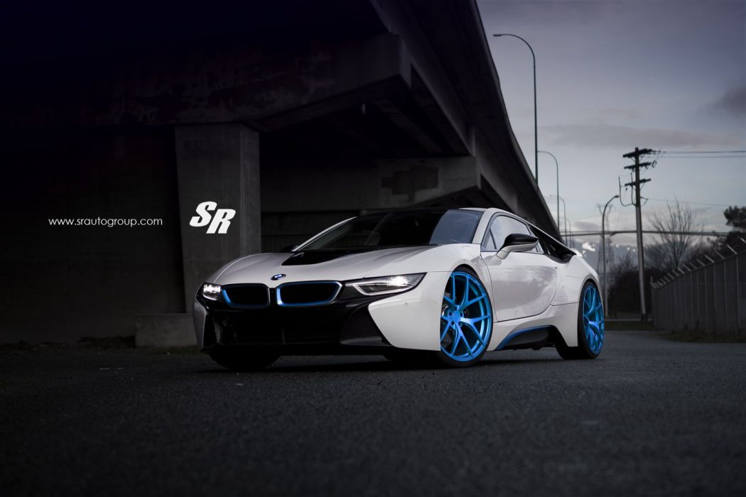PUR wheels BMW I8 cars electric white wallpaper