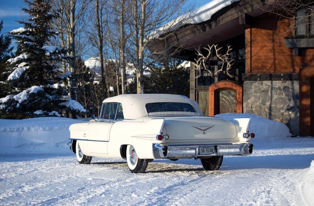 1956 Cadillac Eldorado Biarritz cars convertible classic wallpaper