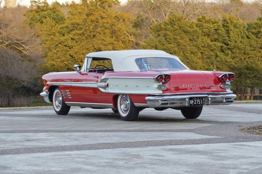 1958 Pontiac Bonneville Custom Fuel Injection Convertible cars classic wallpaper