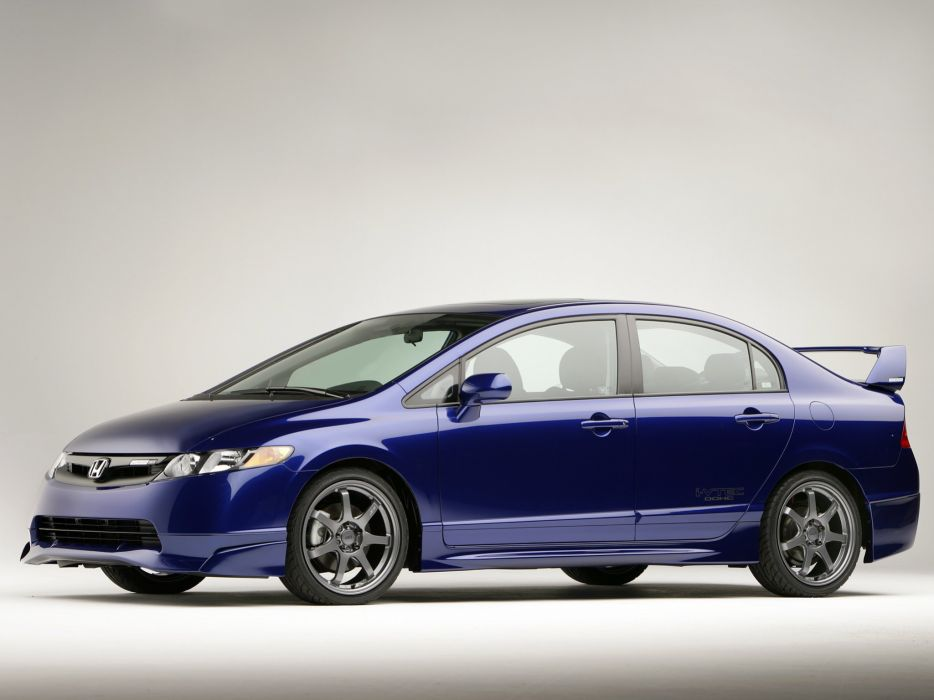 Mugen King Motorsports Honda Civic cars sedan modified 2007 wallpaper