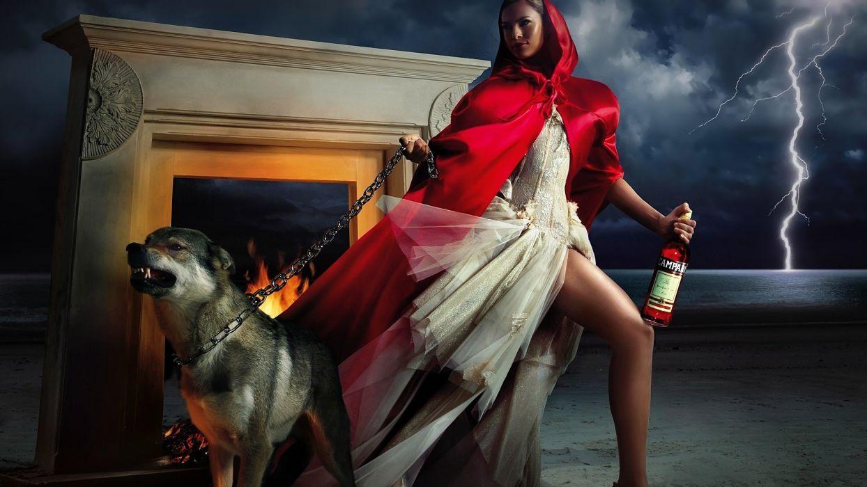 red; beast; beauty; wallpaper