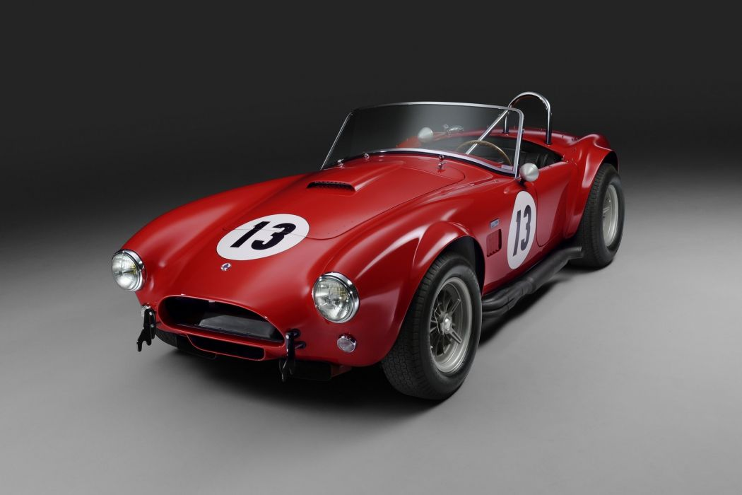 1964 Shelby Cobra 289 Factory Competition cars racecars red classic wallpaper