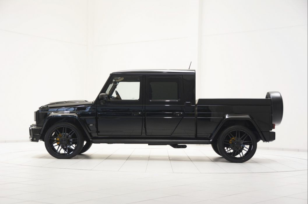 Brabus G500 XXL Pickup Truck cars modified black wallpaper