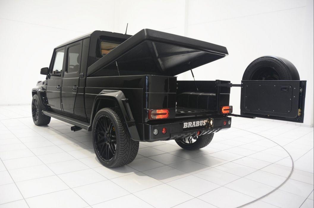 Brabus G500 XXL Pickup Truck cars modified black wallpaper