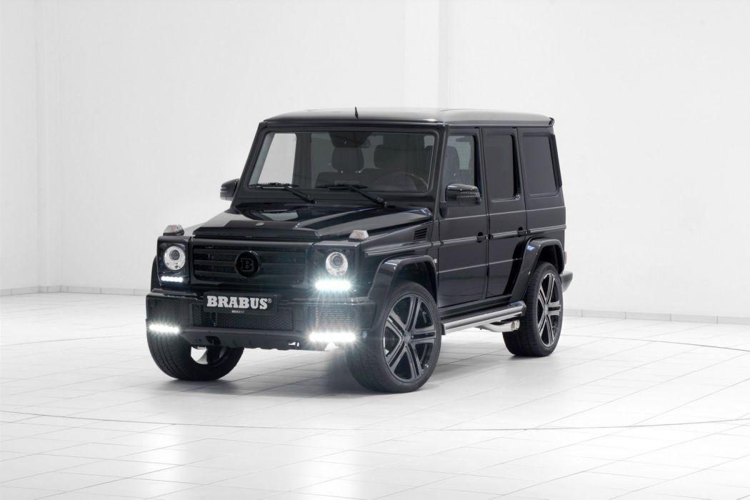 G500 Brabus mercedes 4x4 black modified wallpaper