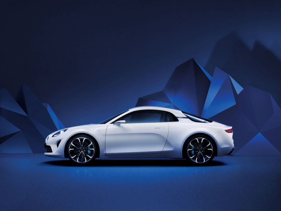 Alpine Vision Concept cars white 2016 wallpaper