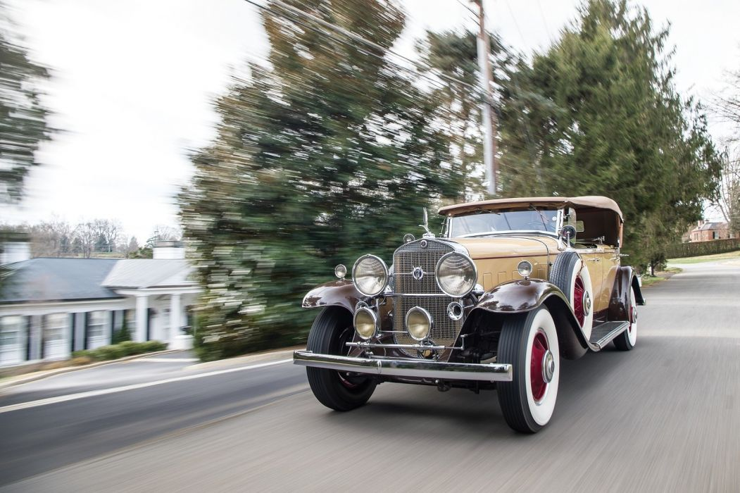 1931 Cadillac 370-A V12 Phaeton by Fisher classic cars wallpaper