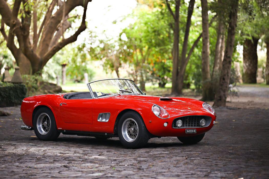 Ferrari 250 GT California swb cars classic 1960 red wallpaper